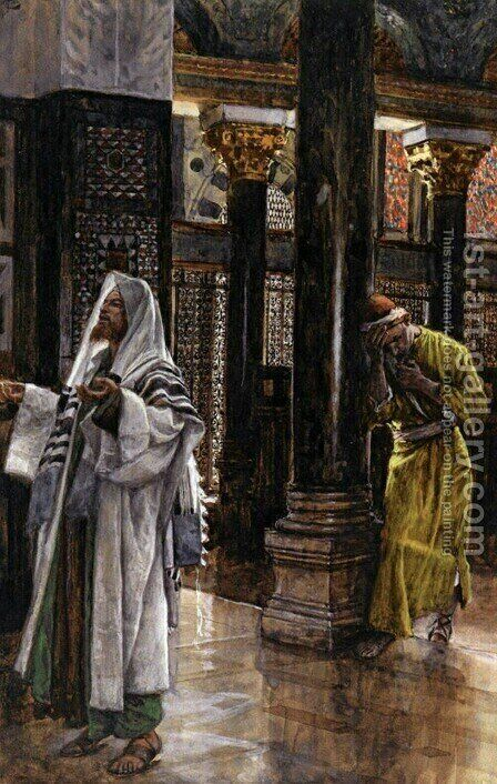 The Pharisee and the Publican by James Jacques Joseph Tissot - Reproduction Oil Painting