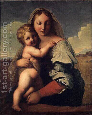 Virgin and Child by Jean Auguste Dominique Ingres - Reproduction Oil Painting