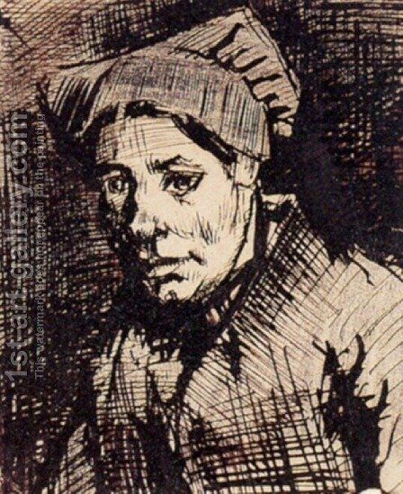Head of a Woman 13 by Vincent Van Gogh - Reproduction Oil Painting