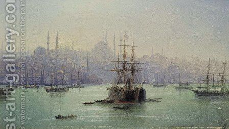 Golden Horn by Ivan Konstantinovich Aivazovsky - Reproduction Oil Painting