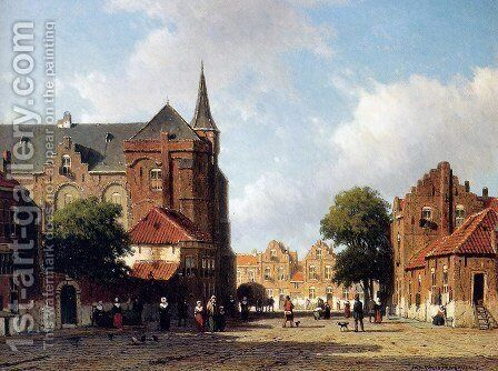 City view 2 by Jan Hendrik Weissenbruch - Reproduction Oil Painting
