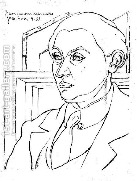 Portrait Daniel Henry Kahnweiler by Juan Gris - Reproduction Oil Painting
