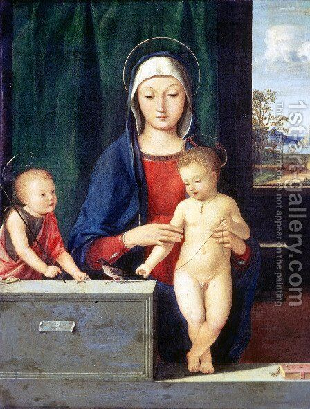 Virgin and Child by Andrea Solario - Reproduction Oil Painting