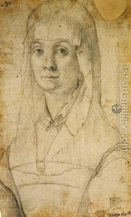Study of a Woman, possibly Maria Salviati by (Jacopo Carucci) Pontormo - Reproduction Oil Painting