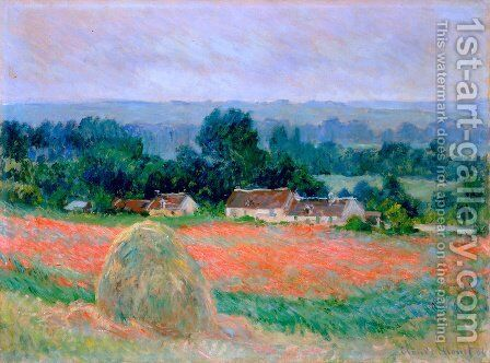 Haystack at Giverny 3 by Claude Oscar Monet - Reproduction Oil Painting