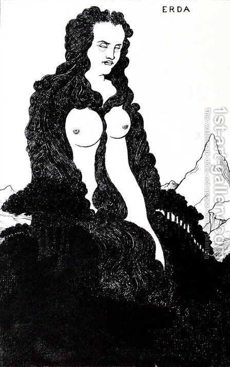 Erda by Aubrey Vincent Beardsley - Reproduction Oil Painting