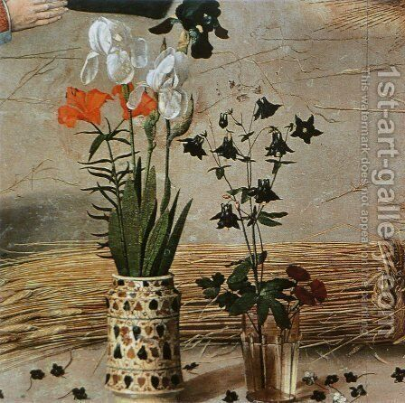 Flower (detail from the central panel of the Portinari Altarpiece) by Hugo Van Der Goes - Reproduction Oil Painting