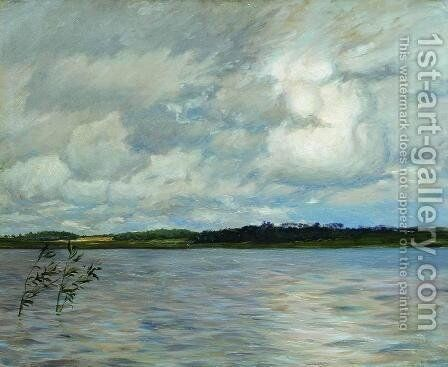 Lake. Gray day. by Isaak Ilyich Levitan - Reproduction Oil Painting