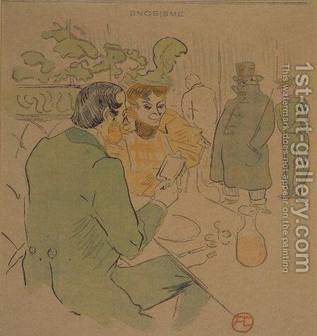 Snobisme by Toulouse-Lautrec - Reproduction Oil Painting