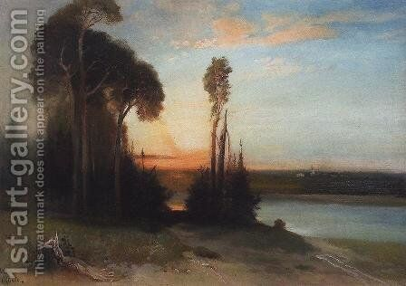 By evening by Alexei Kondratyevich Savrasov - Reproduction Oil Painting