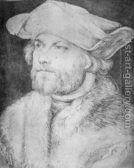 Portrait of a Man (Damia van der Goes) by Albrecht Durer - Reproduction Oil Painting