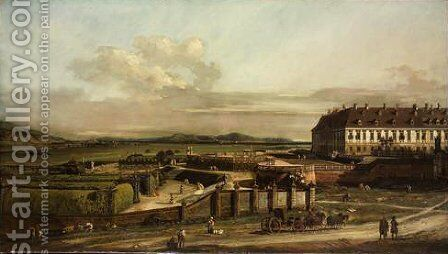 The imperial summer residence, courtyard, view from north by Bernardo Bellotto (Canaletto) - Reproduction Oil Painting