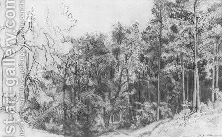 Deciduous Forest 2 by Ivan Shishkin - Reproduction Oil Painting