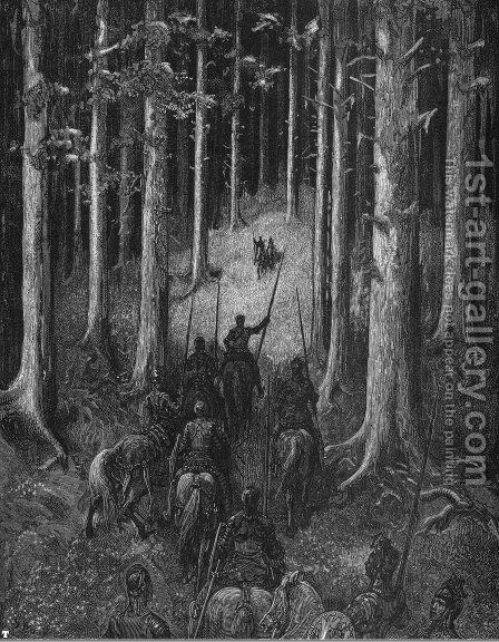Orlando Furioso 7 by Gustave Dore - Reproduction Oil Painting