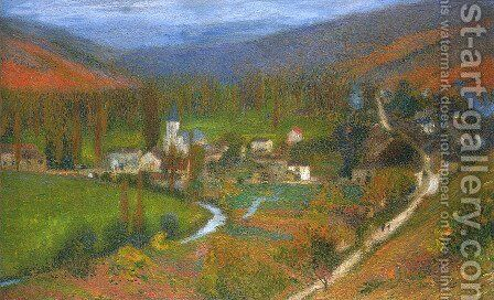 View of Labastide du Vert by Henri Martin - Reproduction Oil Painting