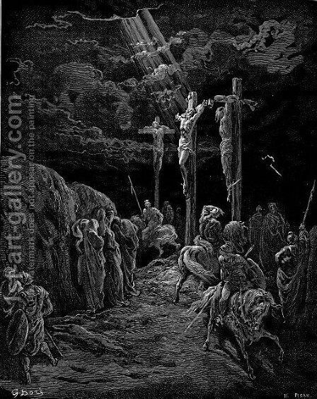 The Crucifixion 2 by Gustave Dore - Reproduction Oil Painting