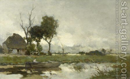 Autumn Landscape by Jan Hendrik Weissenbruch - Reproduction Oil Painting