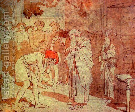 Samuel anoints David to the kingdom by Alexander Ivanov - Reproduction Oil Painting