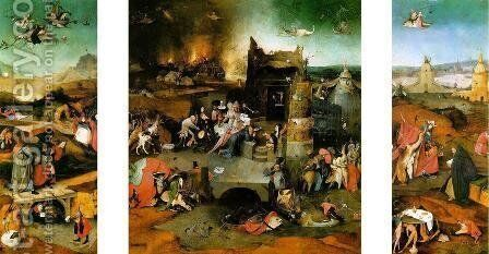 Triptych The Temptation of St. Anthony by Hieronymous Bosch - Reproduction Oil Painting