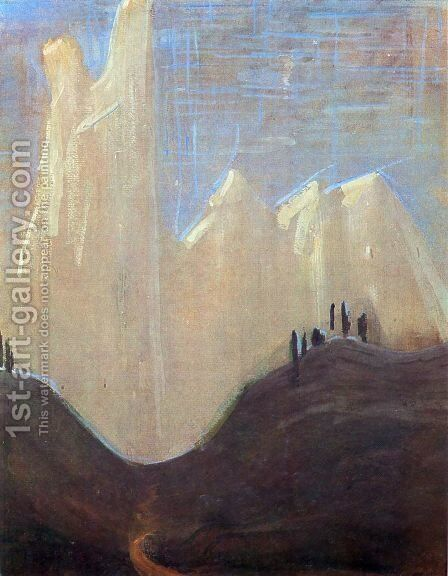 My road (I) by Mikolajus Ciurlionis - Reproduction Oil Painting