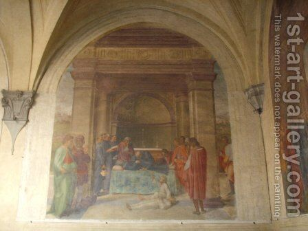 The Raising of the Dead Child by the Corpse of San Filippo by Andrea Del Sarto - Reproduction Oil Painting