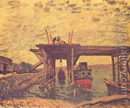 The Loing at Moret 4 by Alfred Sisley - Reproduction Oil Painting