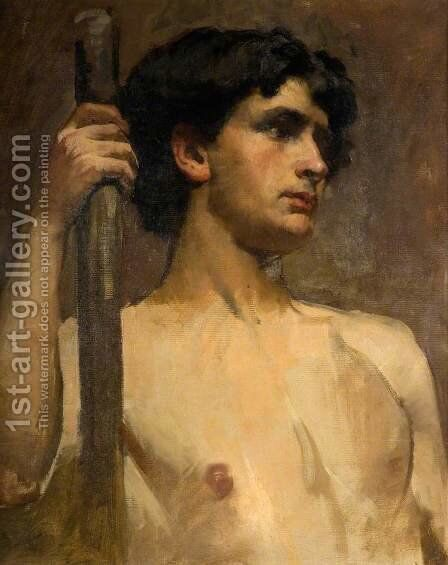 Nude Study by Henry Herbert La Thangue - Reproduction Oil Painting