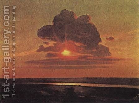 Red sunset 2 by Arkhip Ivanovich Kuindzhi - Reproduction Oil Painting