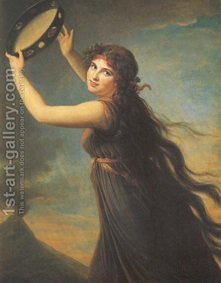 Lady Hamilton by Elisabeth Vigee-Lebrun - Reproduction Oil Painting