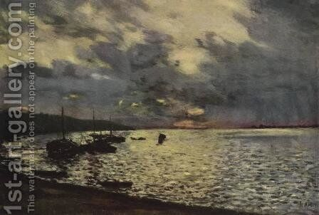 Dull day at Volga by Isaak Ilyich Levitan - Reproduction Oil Painting