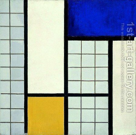 Composition with half values by Theo van Doesburg - Reproduction Oil Painting