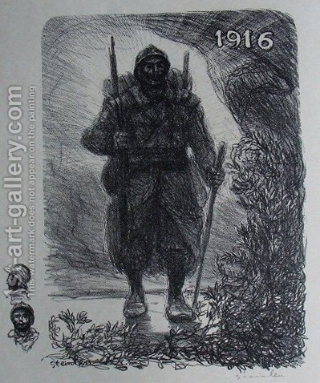 Le soldat by Theophile Alexandre Steinlen - Reproduction Oil Painting