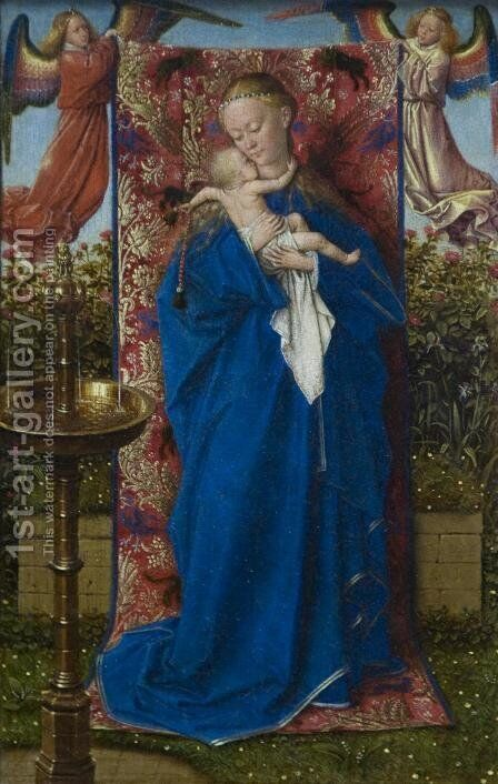 Madonna at the Fountain by Jan Van Eyck - Reproduction Oil Painting