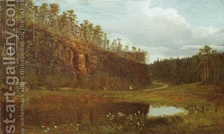 Before Sunset by Ivan Shishkin - Reproduction Oil Painting