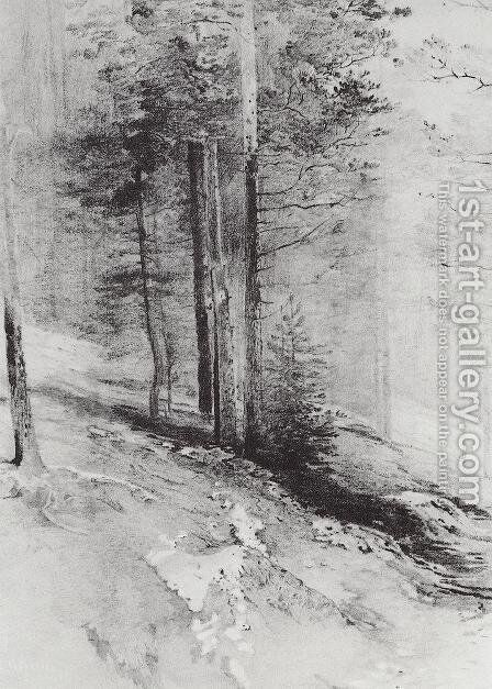 Forest by Alexei Kondratyevich Savrasov - Reproduction Oil Painting