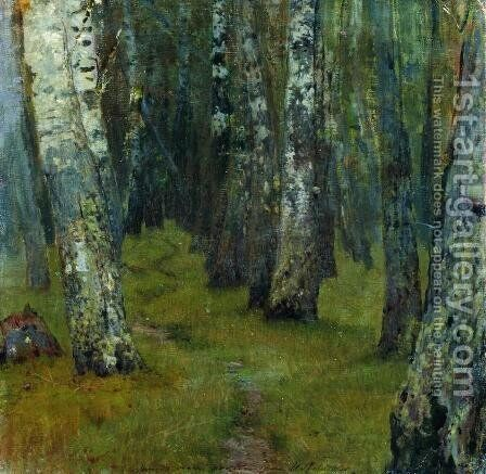 Birches. Forest edge. by Isaak Ilyich Levitan - Reproduction Oil Painting