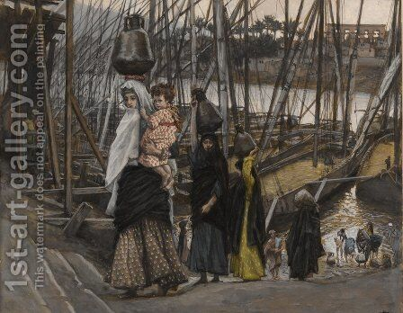 The Sojourn in Egypt 2 by James Jacques Joseph Tissot - Reproduction Oil Painting
