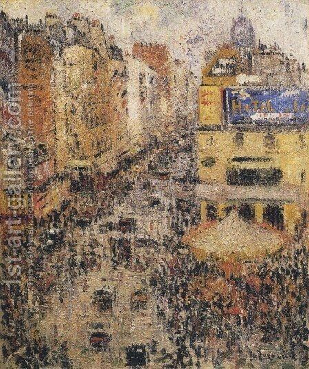 Cligancourt Street by Gustave Loiseau - Reproduction Oil Painting