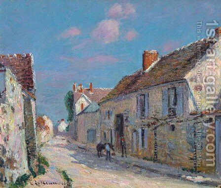 Rue a Ennery by Gustave Loiseau - Reproduction Oil Painting