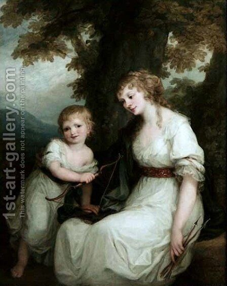 Juliane von Kriidener and her son Paul by Angelica Kauffmann - Reproduction Oil Painting