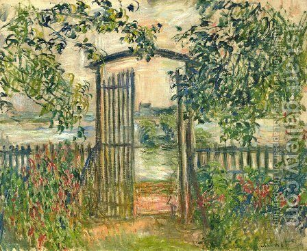 The Garden Gate at Vetheuil by Claude Oscar Monet - Reproduction Oil Painting