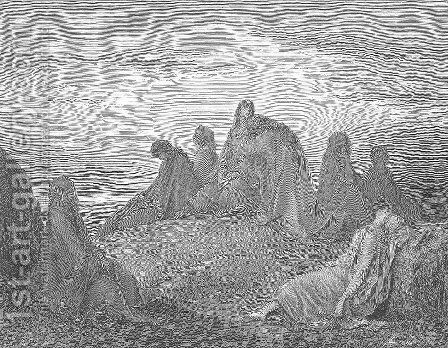 Israelite Women Mourn with Jephthah's Daughter by Gustave Dore - Reproduction Oil Painting