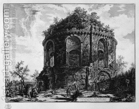 View of the Temple of the Cough said of the Via Tiburtina by Giovanni Battista Piranesi - Reproduction Oil Painting