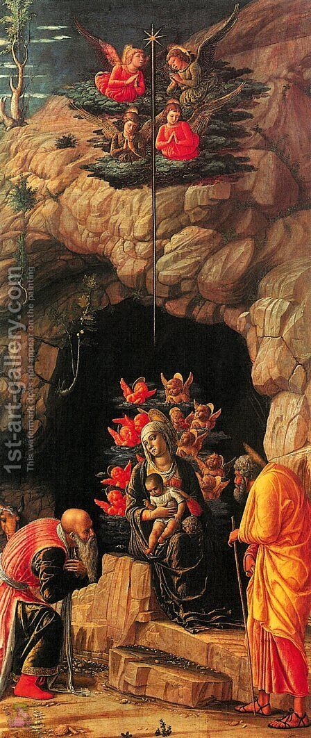 Adoration of the Magi 3 by Andrea Mantegna - Reproduction Oil Painting