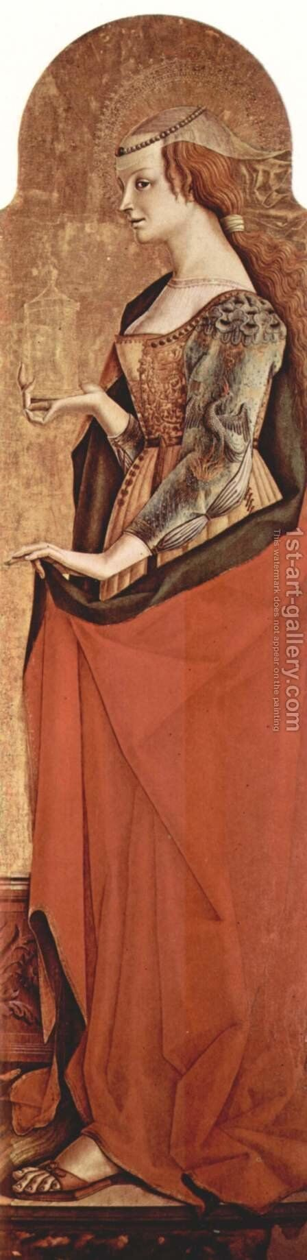 Saint Mary Magdalene by Carlo Crivelli - Reproduction Oil Painting