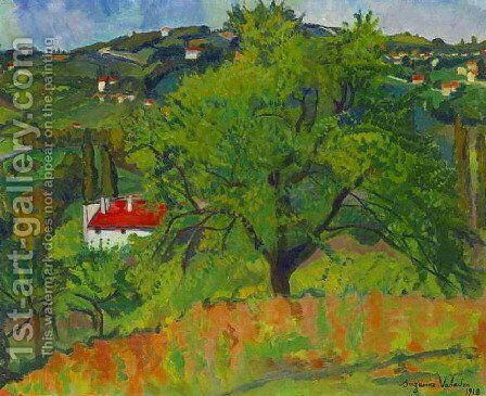 Farm Montcorin by Suzanne Valadon - Reproduction Oil Painting