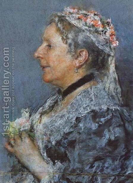 Ariana Wormeley Curtis by Antonio Mancini - Reproduction Oil Painting