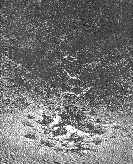 Achan Is Stoned to Death by Gustave Dore - Reproduction Oil Painting