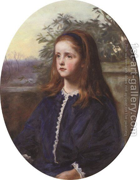 Portrait of Margaret Fuller Maitland by Sir John Everett Millais - Reproduction Oil Painting