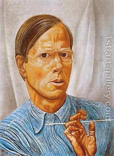 Self-Portrait by Boris Dmitrievich Grigoriev - Reproduction Oil Painting